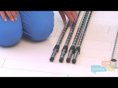 Honey-Can-Do SHF-04347 3-Shelf Microwave Baker's Rack Instruction Video