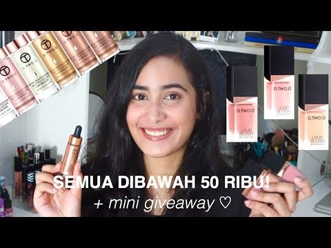 O.TWO.O LIQUID BLUSH & HIGHLIGHTER SWATCHES & REVIEW +GIVEAWAY(CLOSED) | Indonesia | Prisya Thalia B