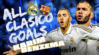 Karim Benzema   ALL El Clásico GOALS vs Barcelona!