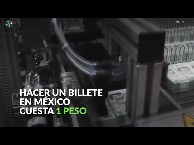 #En60Seg: Hacer un billete en México cuesta 1 peso