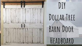 DIY Dollar Tree Barn Door Headboard