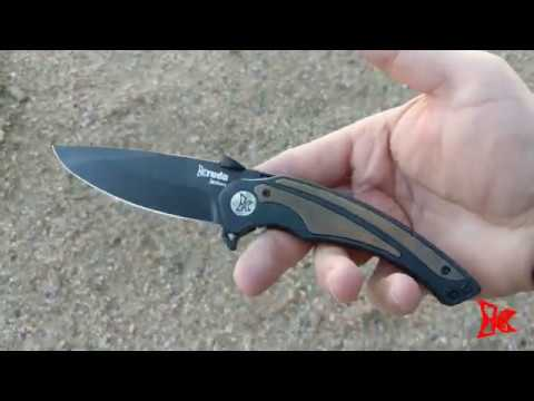 FEROCE Black BA Folding Knife | Pocket Deployment EDC | KRUDO