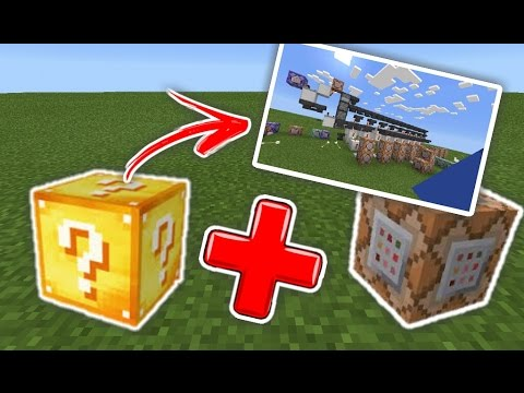 Video LUCKY BLOCK DARI COMMAND BLOCK !! REVIEW REDSTONE MAP !!