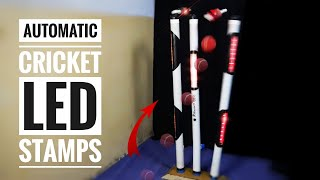 How To Make Automatic Cricket LED Stamps & LED Bails At Home | DIY