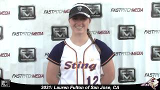 2021 Lauren Fulton Second Base, Outfield and Catcher Softball Skills Video - SJ Sting