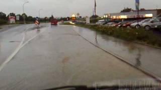 preview picture of video 'Hochwasser auf der B6 in Kubschütz'