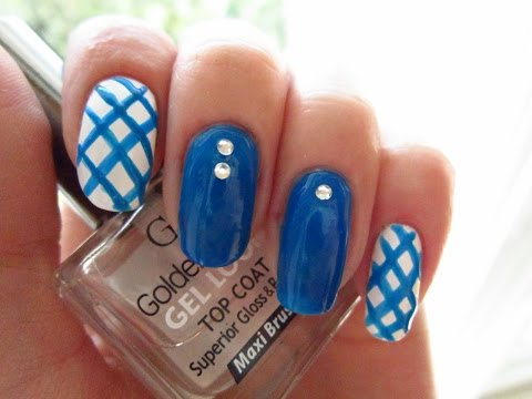 manicure in blue / маникюр в синих тонах