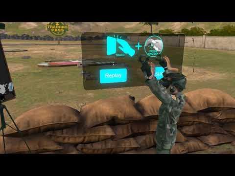 Front Defense VR Game at the Virtual Reality Arcade at APC