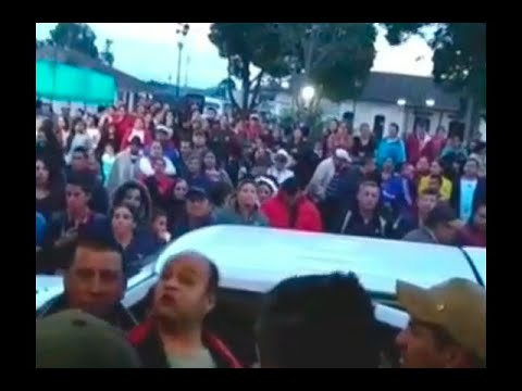 Disturbios por captura del alcalde de El Rosal, Cundinamarca | Noticias Caracol