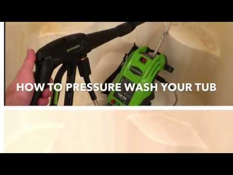 How To Pressure Wash Your Tub or Shower - How to Quickly Clean Your Tub - Oddly Satisfying