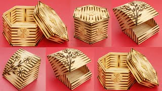 Handmade Jewelry Storage Boxes | DIY Jewellery Box Made From Popsicle Sticks | Home Decoration Idea