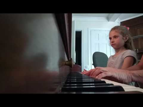 My sweet student, Elise playing Fire Fly.