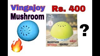 VINGAJOY MUSHROOM WIRELESS SPEAKER!!!