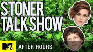 Кристен Стюарт, Kristen Stewart & Jesse Eisenberg Hotbox The Stoner Talk Show | After Hours | MTV News