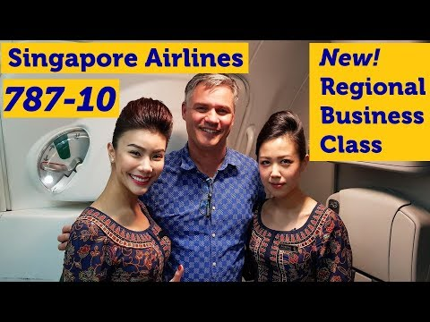 Singapore Airlines 787-10 Inaugural Flight – NEW regional Business Class
