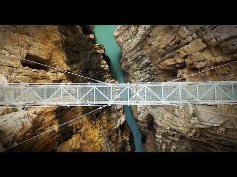 Caminito del Rey completo, El Chorro, Málaga, Spain - Filmed with a drone - Aerial video | 2017