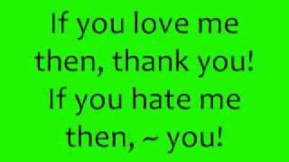 Love Me or Hate Me - Lady Sovereign (Lyrics)