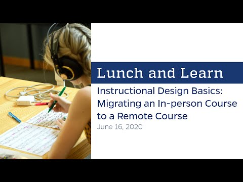 Lunch and Learn: Instructional Design Basics - YouTube