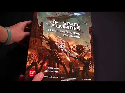 The Gaming Gang Unboxing Space Empires: Close Encounters from GMT