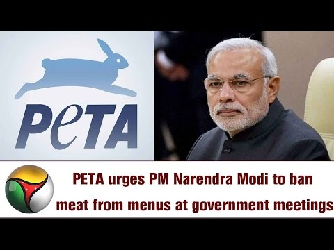 PETA urges PM Narendra Modi to ban meat from menus at government meetings