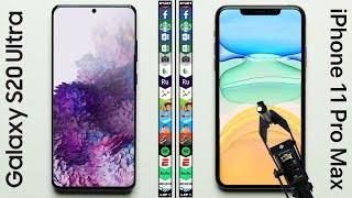 Samsung Galaxy S20 Ultra vs Apple iPhone 11 Pro Max Speed Test