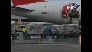 新英格蘭愛國者球隊專機從中國運回百多萬口罩