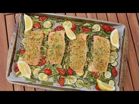 One Pan Herb Crusted Salmon & Veggies | Ep. 1262