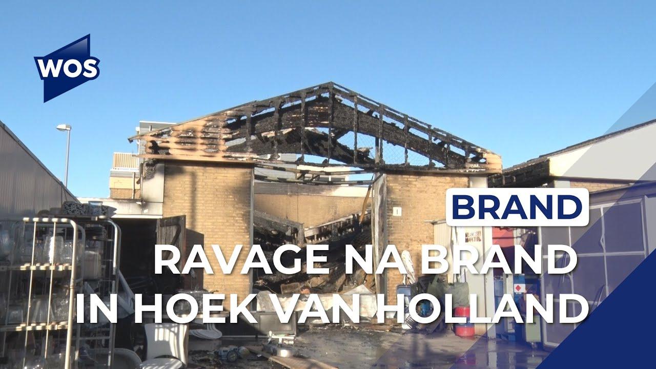 Een dag na de grote brand op bedrijventerrein in Hoek van Holland