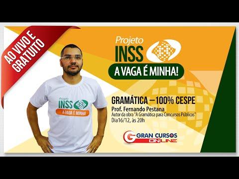 Concurso INSS: Gramática CESPE – Prof. Fernando Pestana