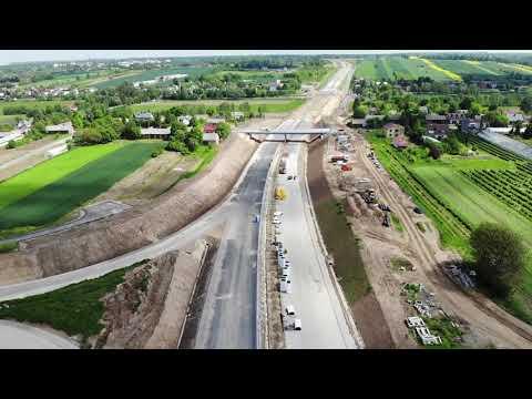Planowana droga S19 odc. 3 obwodnica m. Kraśnik - widok lotniczy - maj 2021