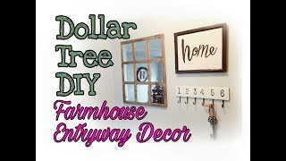 DIY Dollar Tree Farmhouse Entryway Wall Decor