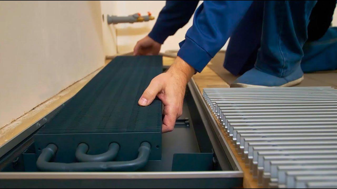 Видеообзор производства внутрипольных конвекторов Техно (Techno)