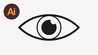 Learn How To Draw An Eye Icon In Adobe Illustrator | Dansky