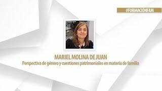 Perspectiva de género y cuestiones patrimoniales en materia de familia. Dra. Mariel Molina de Juan