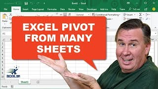 Learn Excel - Pivot From Many Sheets: Podcast #1331