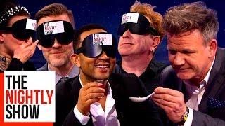 Gordon Ramsay Blindfolding Celebs & Feeding Them Strange Foods | COMPILATION