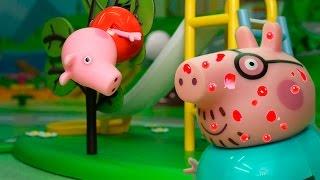 Видео для детей с игрушками свинка Пеппа!