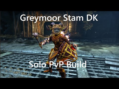 ESO Greymoor Stam DK Solo PvP Build and 1vX Commentary