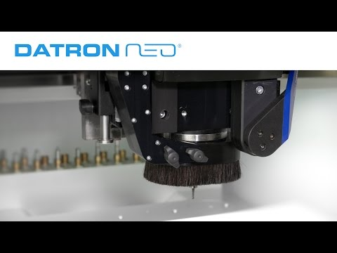 With the optional DATRON neo dust suction, both work area and ambient air are kept clean. It quickly and efficiently removes the fine dust that is generated during plastics and wood machining.