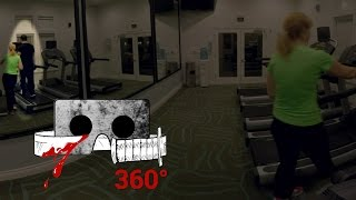 360° Horror Short   THE HAUNTED GYM   Cardboard Horror #360video