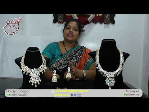 Traditional Diamond Necklace Collection From Sri Bhavani Jewels