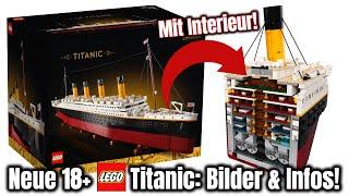 Längstes LEGO Set jemals: kann es mit Cobi mithalten? | 'Titanic' 18+ Bilder & Details! | Set 10294
