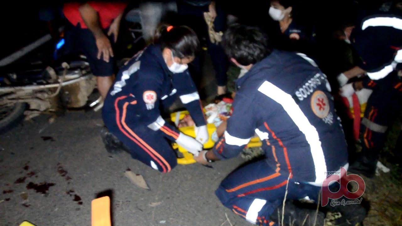 Duas Vítimas, um óbito em colisão entre Motos na Br 230 próximo a Sousa