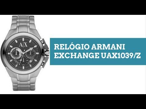 fb0e6387ee9 Relógio Armani Exchange Uax1039 z - Veja O Vídeo - R  979