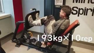 レッグプレスの使用方法 MAX193kg