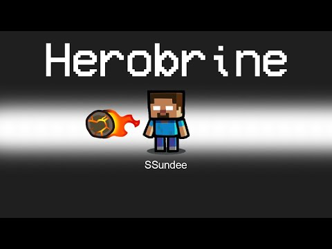 SUPER HEROBRINE Imposter Role in Among Us