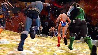 Raiden's Army Vs Superman's Army Final Battle Fight Scene - Mortal Kombat Vs DC Universe
