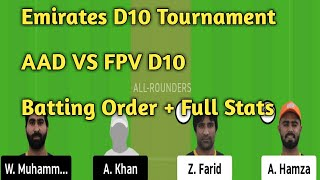 AAD VS FPV Dream 11 team // FPV VS AAD Dream 11 team // AAD VS FPV Dream 11 team prediction