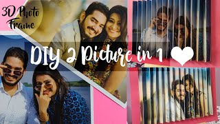 DIY Optical Illusion Frame | How to make 2-in-1 Photo Frame | Best Valentine's Day Gift Ideas