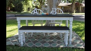 How To Redo Furniture: How To Makeover: Table, Bench And Chairs